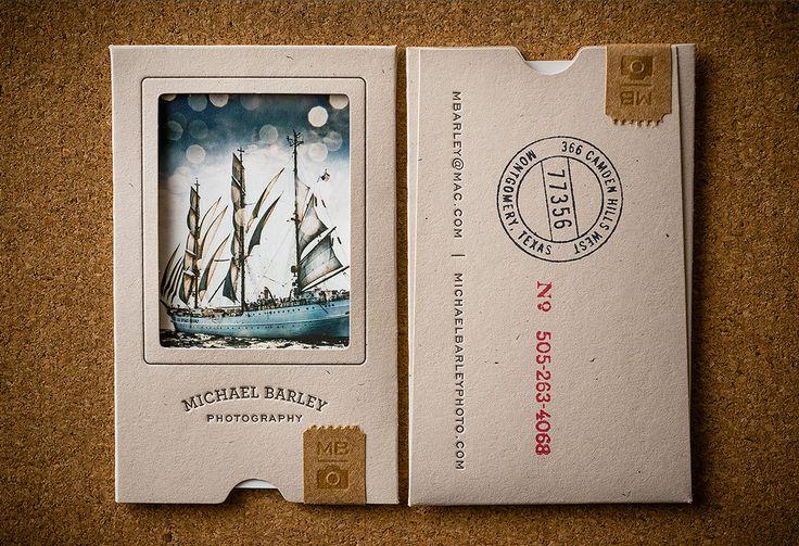 Michael Barley Photography - Business Card Design Inspiration | Card Nerd