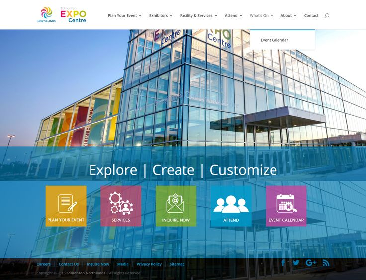 Edmonton EXPO Centre website inspiration