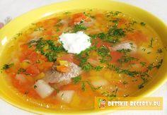 мясной суп в горшочке. Детские рецепты