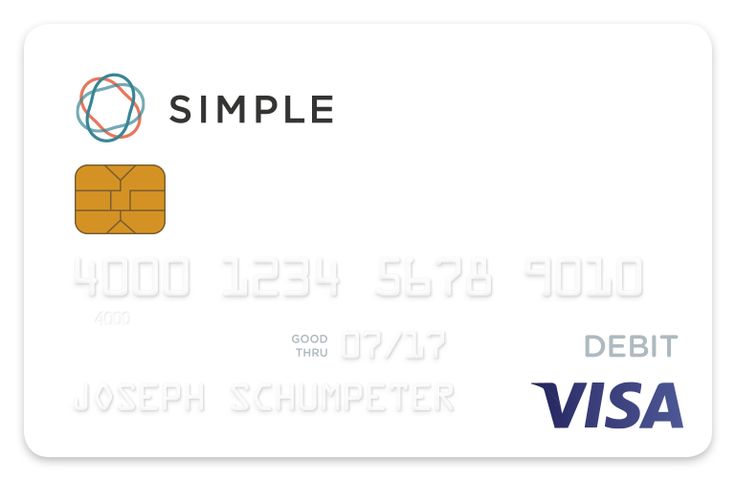 Simple helps you feel confident with your money with tools that help you spend smarter and save more. Just a great, no fees, bank!
