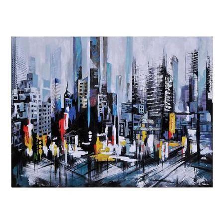 Ksenia Sizaya 'Metro Heights' Hand-painted Canvas Art