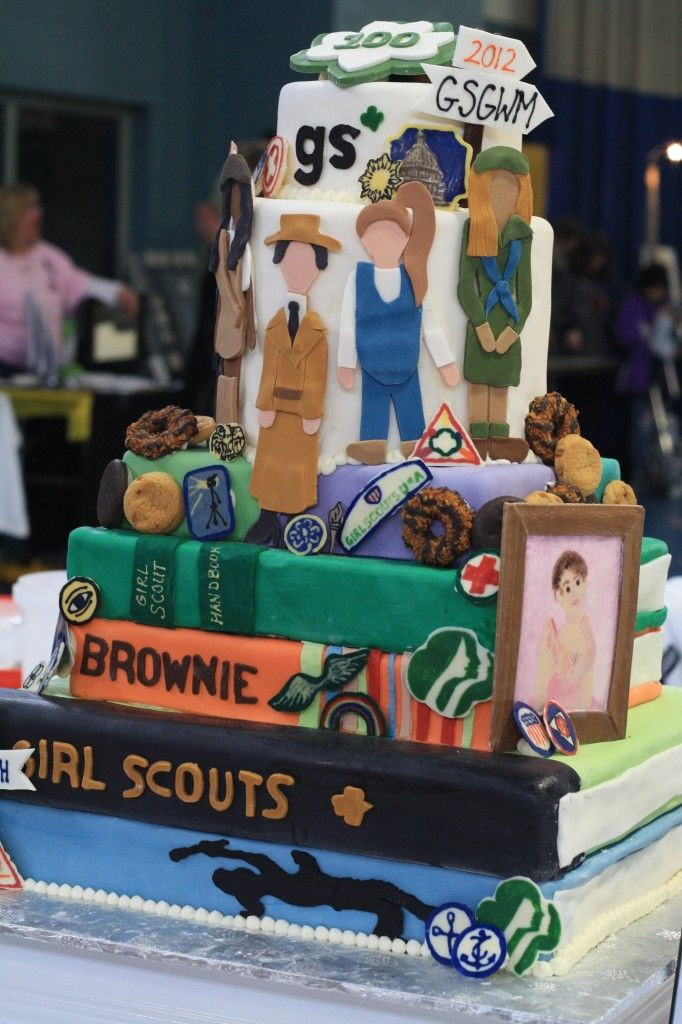 Cake Ideas For Girl Scouts : Awesome cake! Cake Ideas for Girl Scout Bridging Party ...