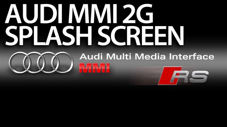 How to change welcome screen to RS in #Audi #MMI 2G (A4 A5 A6 A8 Q7) boot