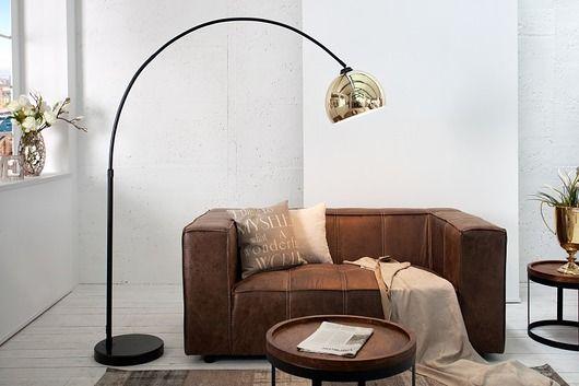 Lampa podłogowa Lounge Copper marmur złota 210cm