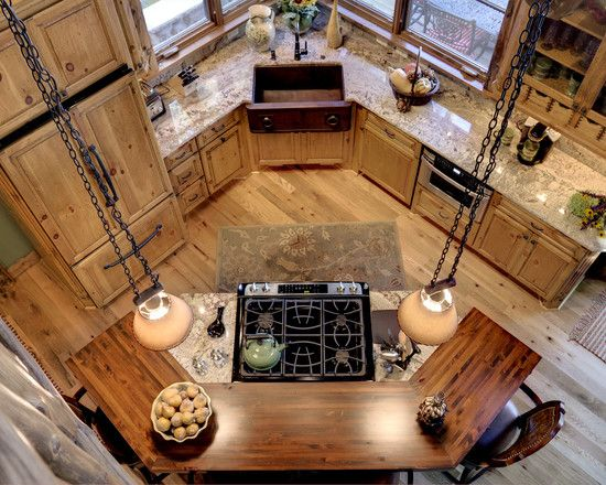 Kitchen Log House Design, Pictures, Remodel, Decor and Ideas