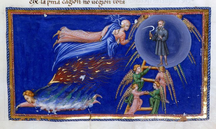 Heaven of Saturn -Dante Alighieri Title Divina Commedia Origin Italy, N. (Tuscany, Siena?) Date between 1444 and c. 1450 Language Italian http://www.bl.uk/catalogues/illuminatedmanuscripts/record.asp?MSID=6468&CollID=58&NStart=36