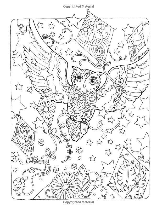 Creative Haven Owls Coloring Book Artwork By Marjorie Sarnat Abstract Doodle Pages Colouring Adult Detailed Advanced Printable Kleuren Voor