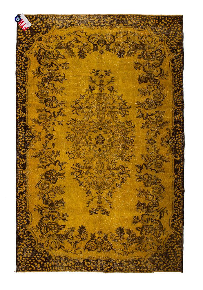Recoloured tapijt 038-460 geel : fromturkeywithlove.nl