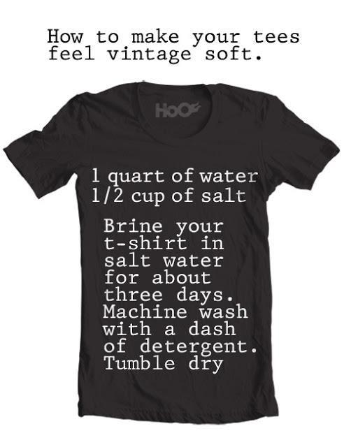 Softens up those stiff T-shirts...VIntage soft!