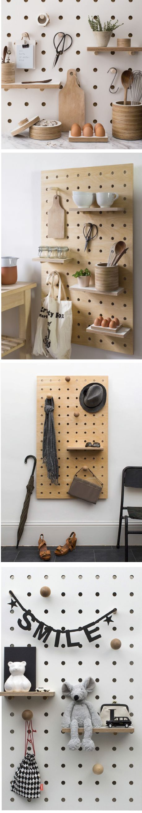 Peg board storage by Kreisdesign