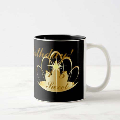 Happy Birthday Sweet Fifteen-Customize Two-Tone Coffee Mug