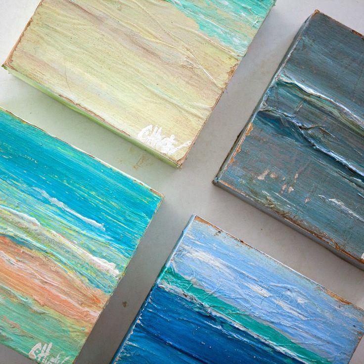 Saltwater Salvage Design  Saltwash  Seascape Art Minis. 9 best Salt wash Furniture images on Pinterest   Annie sloan