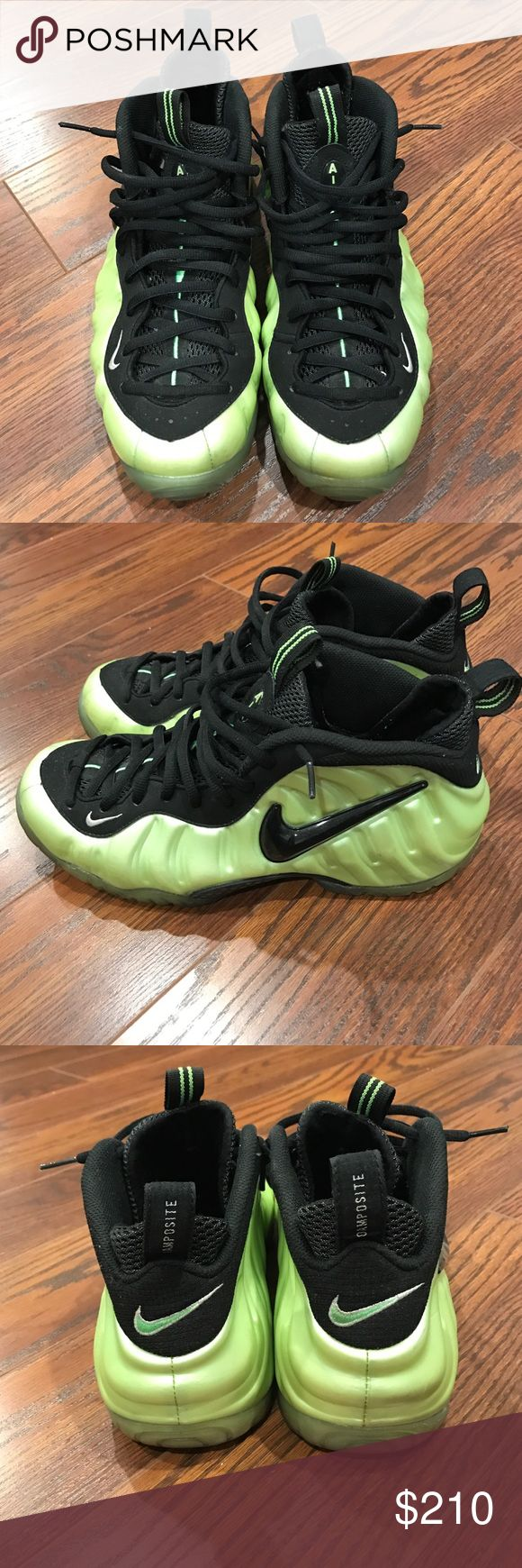 Electric Lime Green Foamposite!!!!! Great Condition!!!! Rare Sneakers Nike Shoes Sneakers