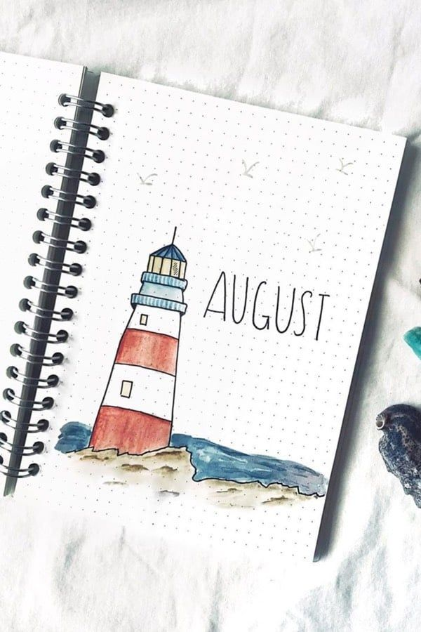 Check out these super cute AUGUST monthly cover spreads for inspiration!