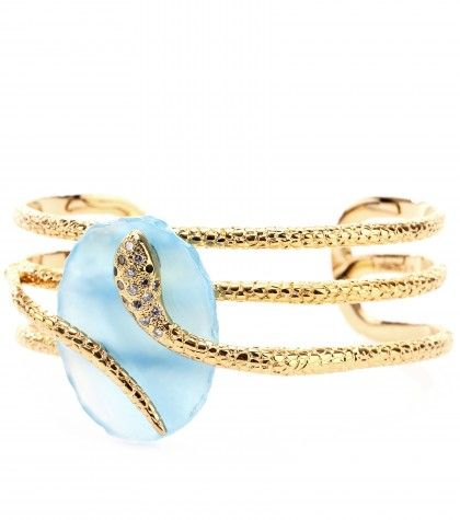 #Isharya - GOLD-PLATED CUFF WITH EMBELLISHMENT
