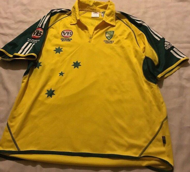 Adidas Australia Cricket Jersey Shirt Size Xxl 2Xl Victoria Bitter