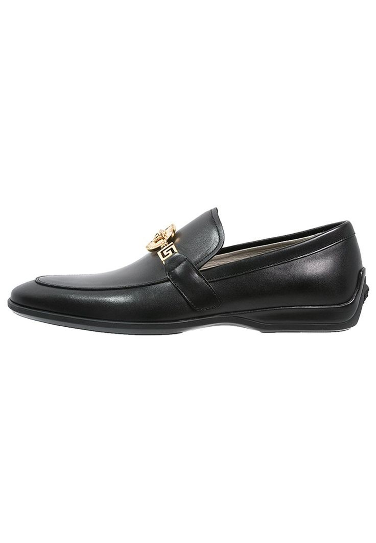 Versace Eleganckie Buty Black Dress Shoes Men Loafers Men Oxford Shoes