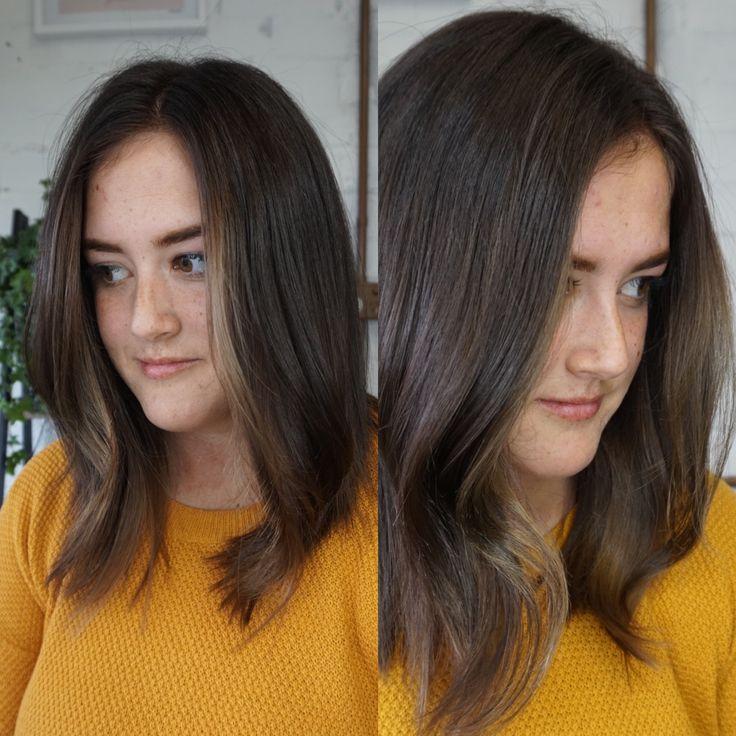Face framing foils #brunette #foils