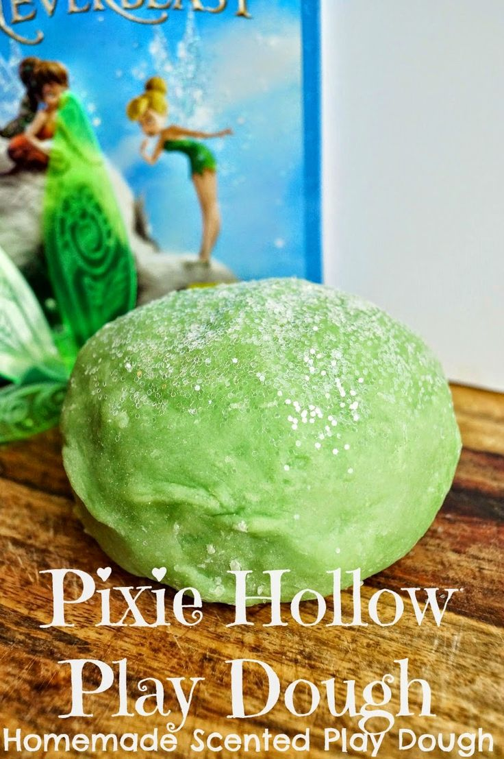 Pixie Hollow Play Dough (Homemade Scented Play Dough) #TinkandNeverbeast #Ad