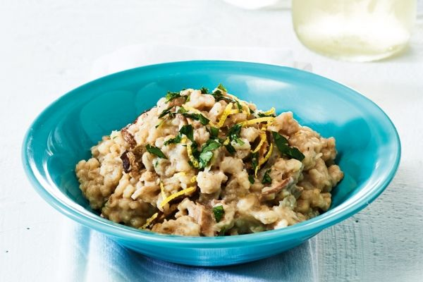 Slow Cooker Mushroom Barley Risotto - add with chicken and a veg to make a well balanced meal