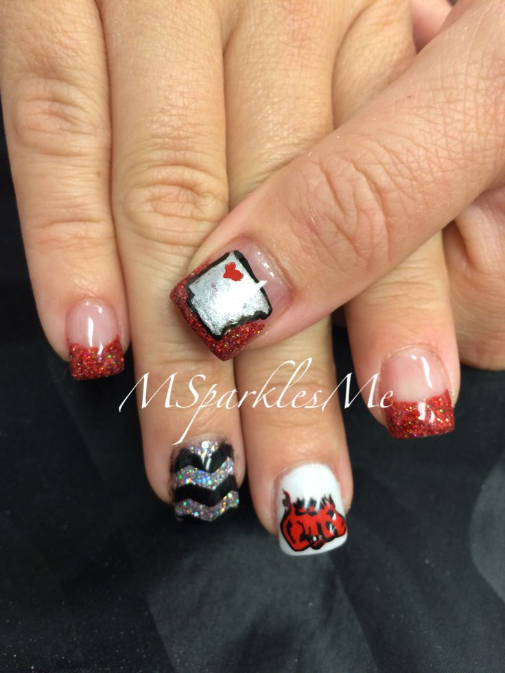 8 best Razorback Nails images on Pinterest | Nail art ideas, Nail ...