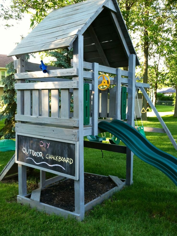 Best 25 outdoor playset ideas on pinterest play sets for Homemade forts outdoors
