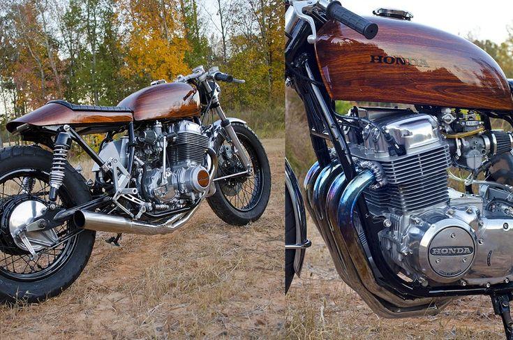 """Spencer Tulls Honda CB750 Cafe Racer """"Woody"""""""