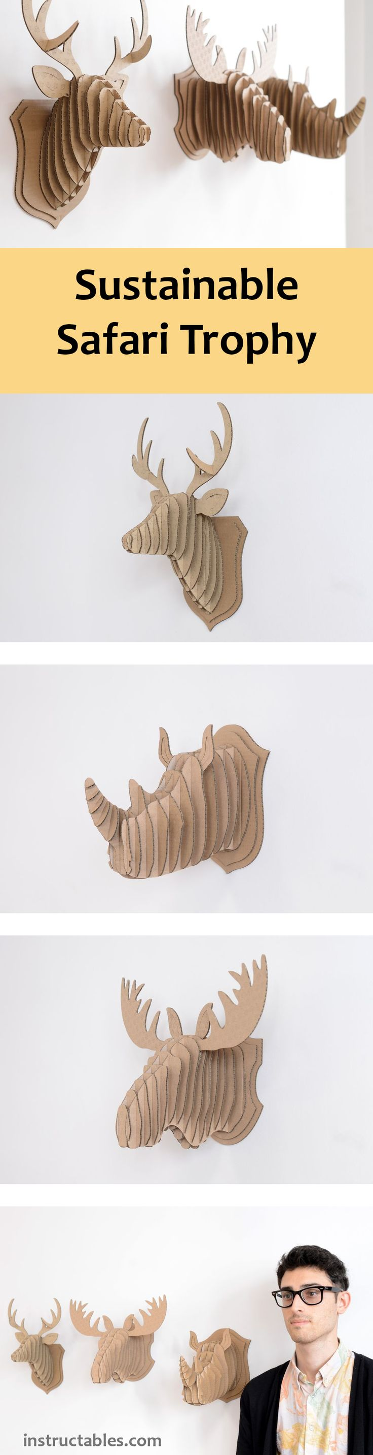 Laser cut cardboard makes these a snap to make, but you can also cut them with an X-acto.
