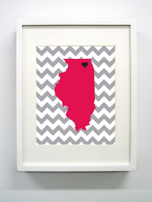 DeKalb Illinois Landmark State Giclée Print 8x10 by PaintedPost