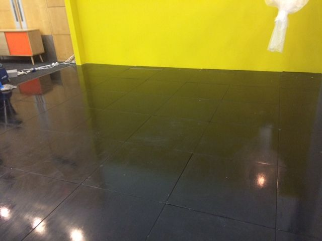 Black painted floor for Homemakers Expo 2014