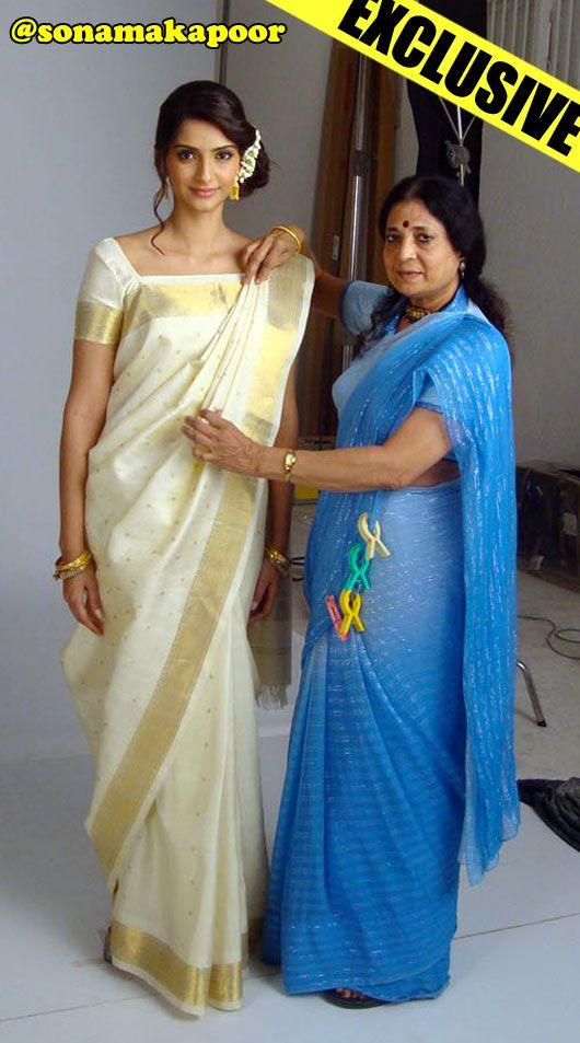 Kalpana Shah draping Sonam Kapoor