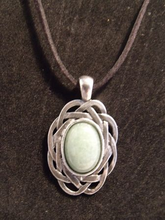 Necklace Adventurine Pewter #handmade #jewellery