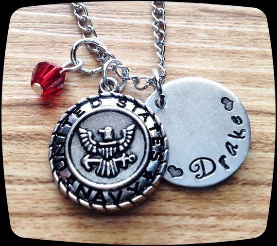 Navy Gift Jewelry,  US Navy jewelry, Navy Graduation, Navy Wife, Military Jewelry, Deployment Gift, Necklace