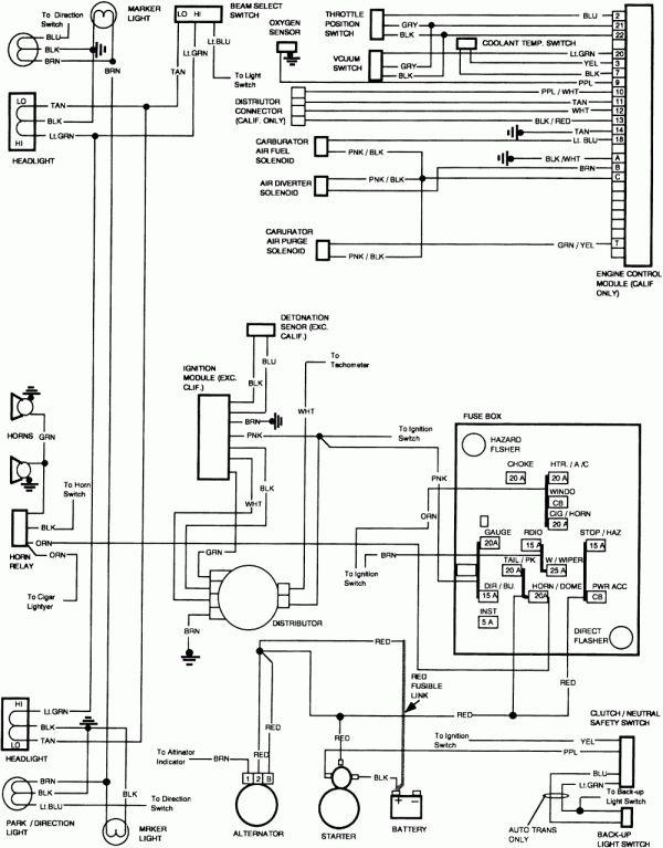 17 1983 chevy truck starter wiring diagram  truck diagram