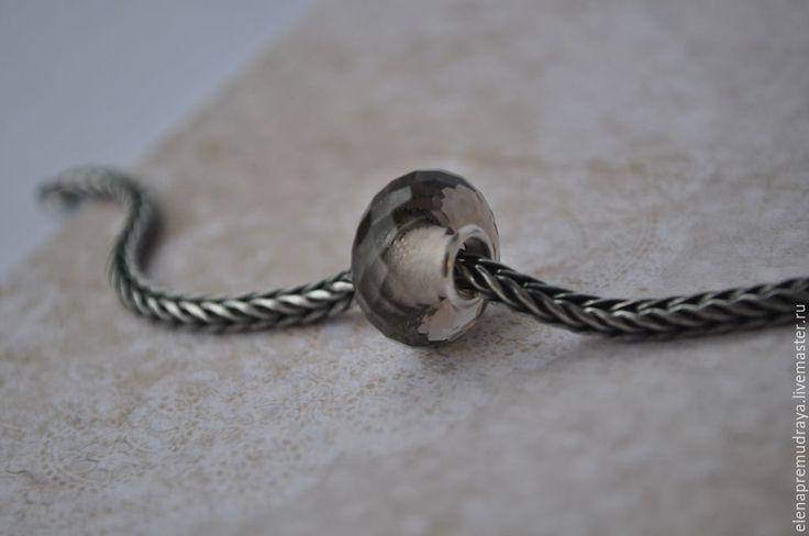 Купить Дымчатый кварц - искусственный камень для Pandora и Trollbeads - коричневый, trollbeads, pandora, пандора, тролль