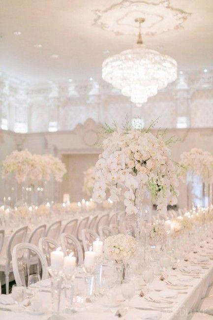 Inspiration mariage de luxe : la décoration - mariage blanc                                                                                                                                                                                 Plus