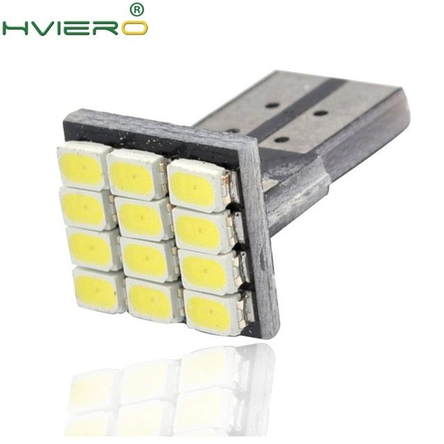 T10 W5w Canbus White 1206 12smd Led Vehicle Tail Dashboard Light Dc 12v Parking Light Side Marker Light Wedge Lamp Corner Bulb Review Bulb Light Side Lamp