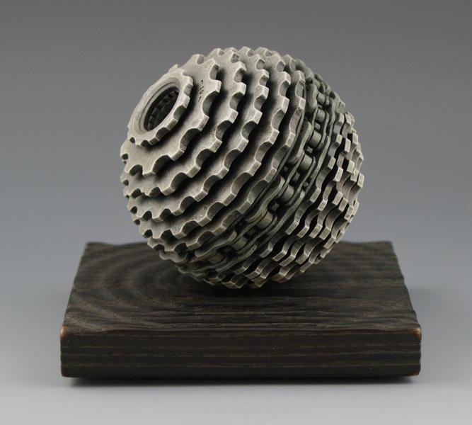 Cassette Sculpture MAKETRAX.net - Bicycle ART