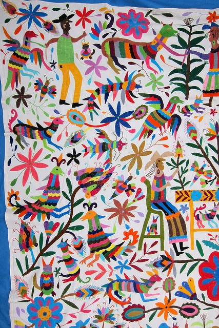 Otomi indian embroidery from Tenango de Doria Hidalgo,Mexico by Mexico Culture, via Flickr
