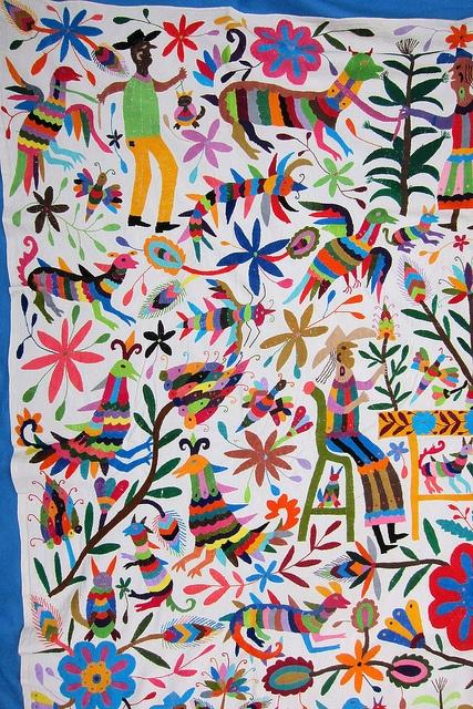 Otomi indian embroidery from Tenango de Doria Hidalgo,Mexico by Mexico Culture, via Flickr