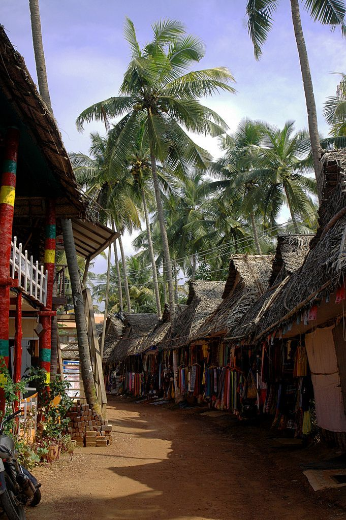 A street in Varkala Beach,Kerala ,India