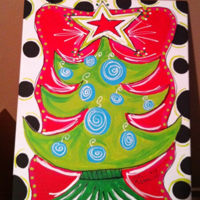 Christmas Canvas. Man I need to make these, incredibly easy! Who wants one?!