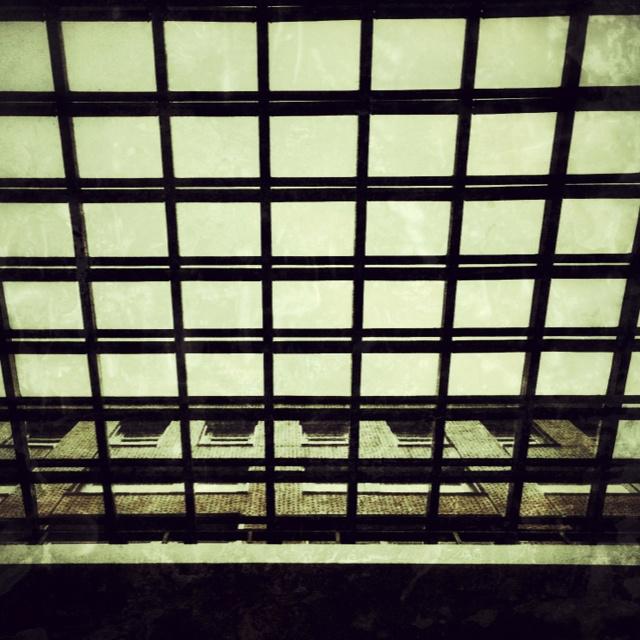 Hospital glass roof