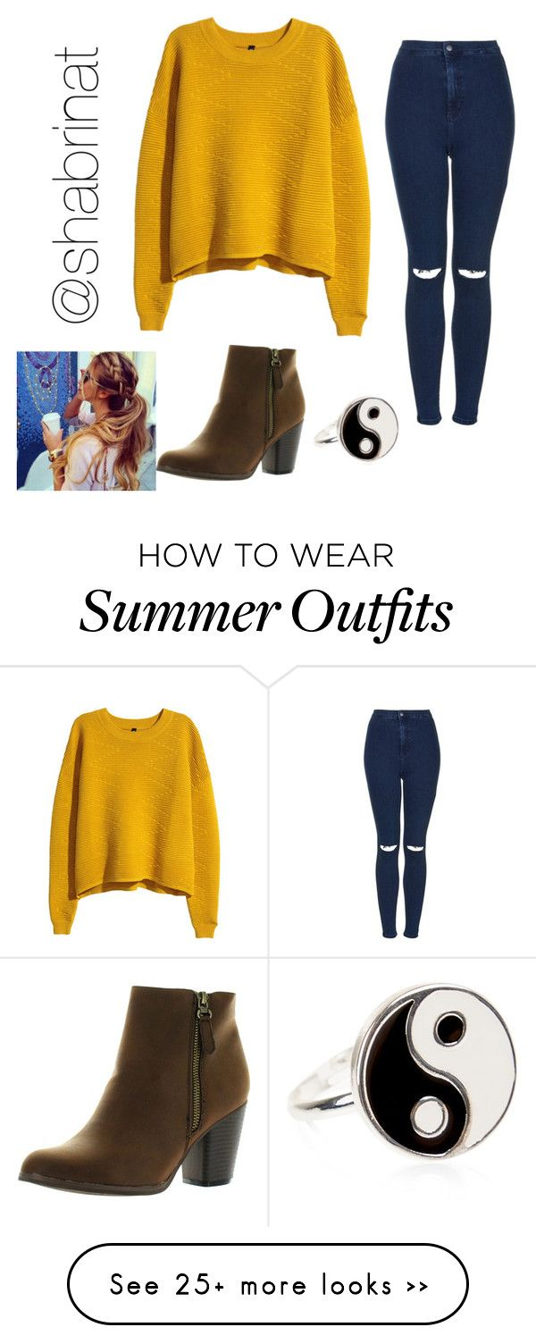 """I wore this outfit to school"" by shabrinat on Polyvore featuring H&M, Topshop, Reneeze and Accessorize"