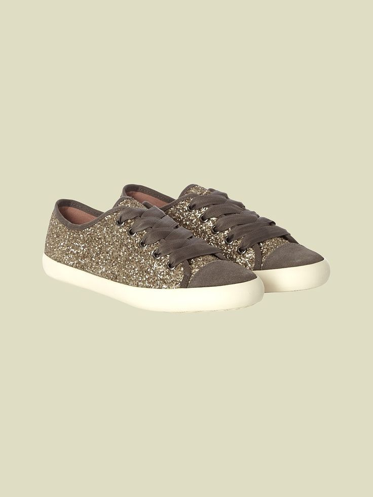 GLITTER LACE UP TRAINER | shoes & boots | White Stuff