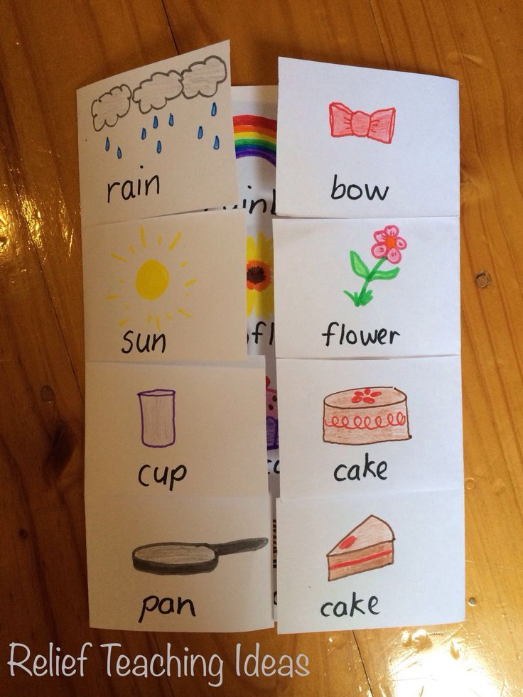 Here is a simple foldable, that students can make, to demonstrate compound words. You can also use this same foldable to show contractions. All you need is