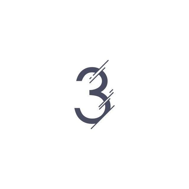 Number 3 Vector Template Design Illustration 3 Clipart Number Icons Template Icons Png And Vector With Transparent Background For Free Download Illustration Design Number Icons Template Design
