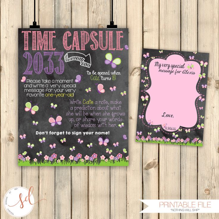 words to write in wedding shower card%0A Butterfly Time Capsule Sign and Message Card  Butterfly Garden  Tea Party   Baby Shower