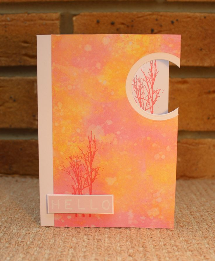 Card using the Stamp It III Kit with Distress It Pad - brights, by Sue Smith for Craftwork Cards.