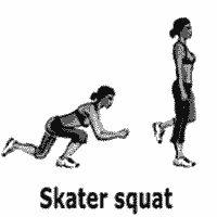 exercice de fitness skater squat